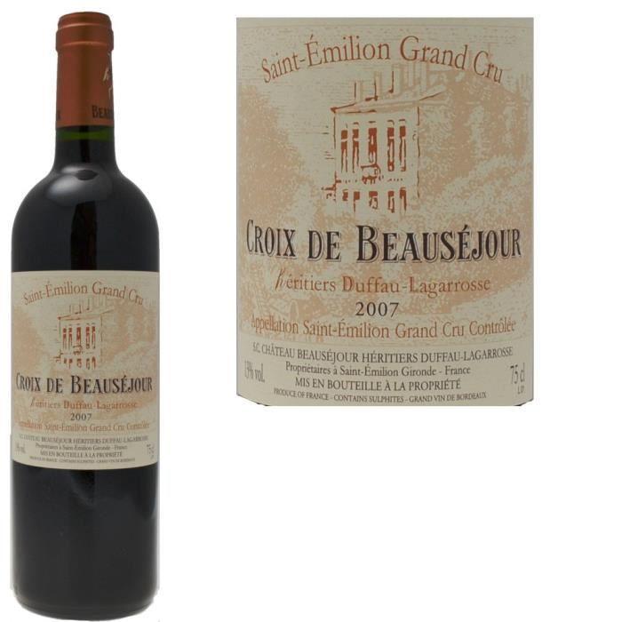 Croix de Beausejour 2007 Saint-Emilion Grand Cru - Vin rouge de Bordeaux