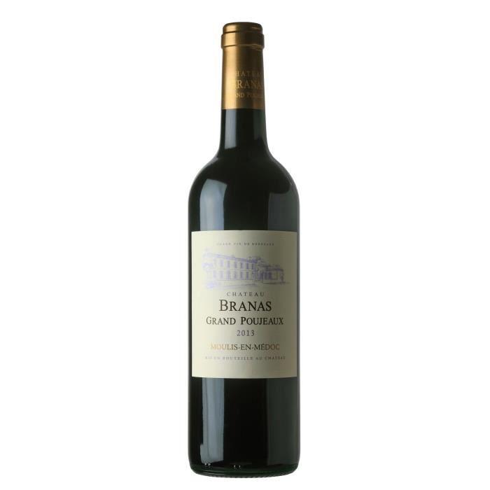 Château Branas Grand Poujeaux 2013 Moulis en Médoc - Vin rouge de Bordeaux