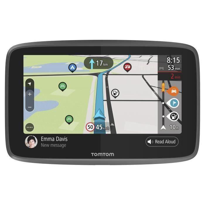 TomTom GO Camper - GPS camping-car 6 pouces, cartographie monde 152 pays, Wi-Fi intégré, carte SIM intégrée, appels mains-libres