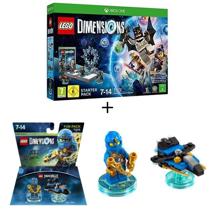 Pack LEGO: Starter Pack Xbox One LEGO Dimension + Figurine LEGO Dimensions: Jay Ninjago