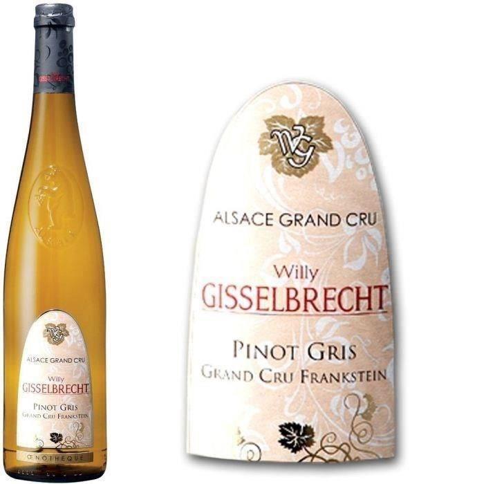 Gisselbrecht 2017 Pinot Gris Grand Cru Franksein - Vin blanc d'Alsace
