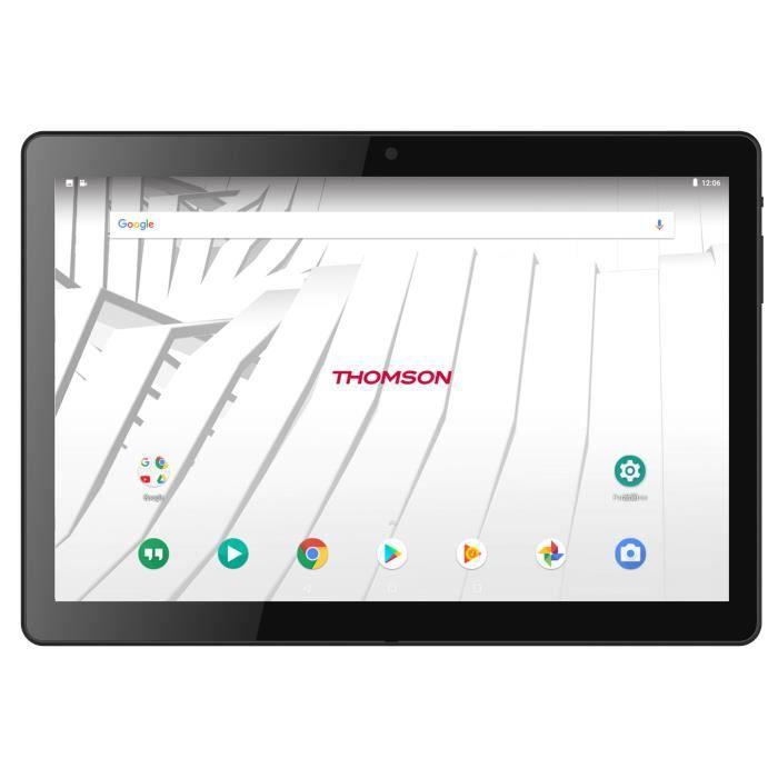 THOMSON Tablette tactile TEO10 - TEO104G-MT2BK16 - 10,1- - 2Go de RAM - Android 7.1 - MEDIATEK MTK8735 - Stockage 16Go - 4G/WiFi