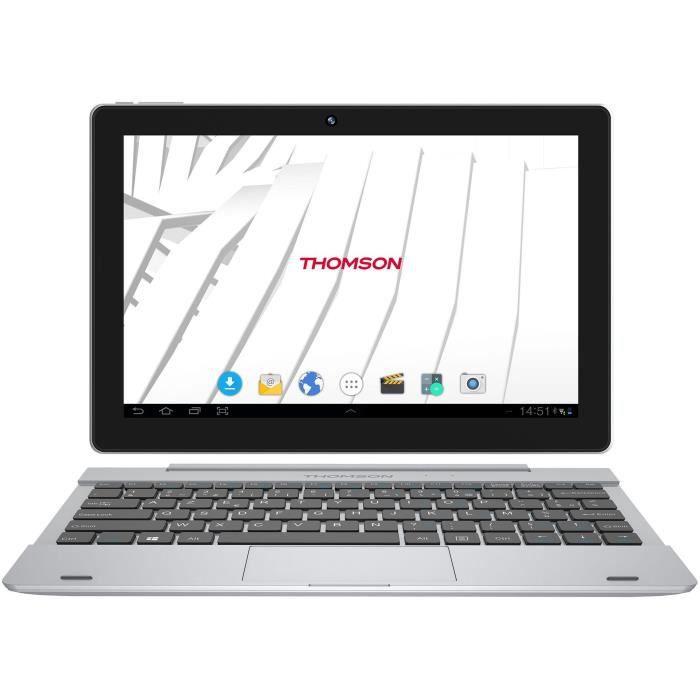 Thomson Tablette 2en1 Hero10rk1bk16 Ecran 10,1'' 1Gb Ram Android 7.1 16 Gb Emmc