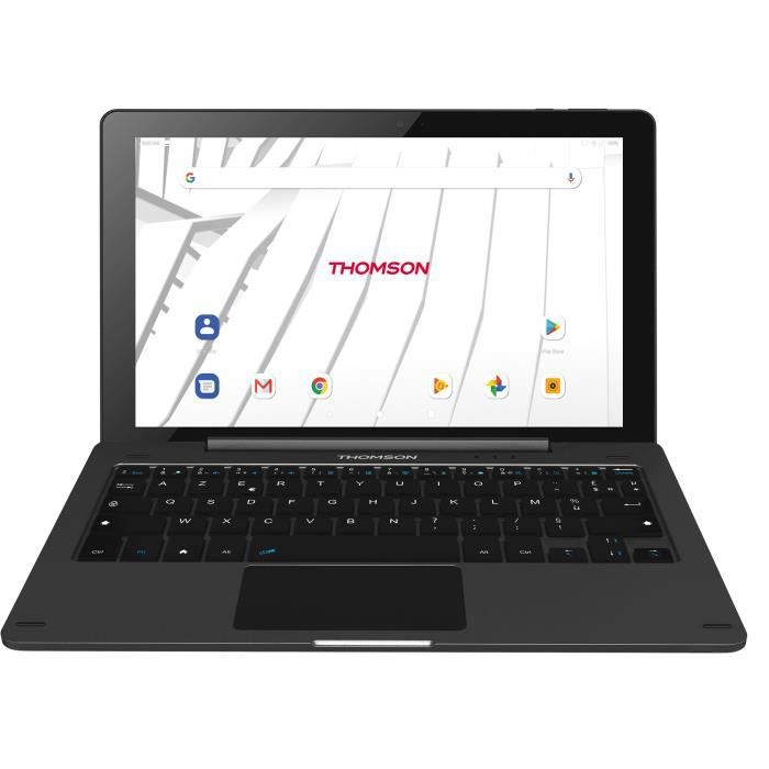 THOMSON Tablette Tactile + Clavier - HERO10 - 10- - RAM 2Go - Stockage 32Go - Android 9.0 - Noir