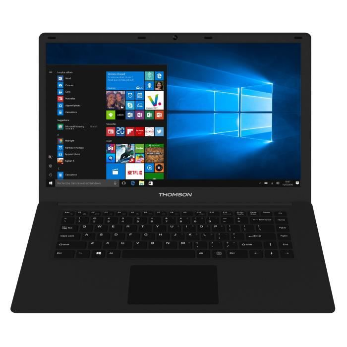 THOMSON PC portable NEO15A - 15,6'''' Full HD 1920x1080 - 1Go RAM - Intel® Atom™ - 32Go eMMC - Windows 10 - WiFi/Bluetooth - Noir