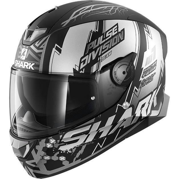 SHARK Casque moto Intégral Skwal 2.2 Noxxys + Cagoule - Noir et blanc