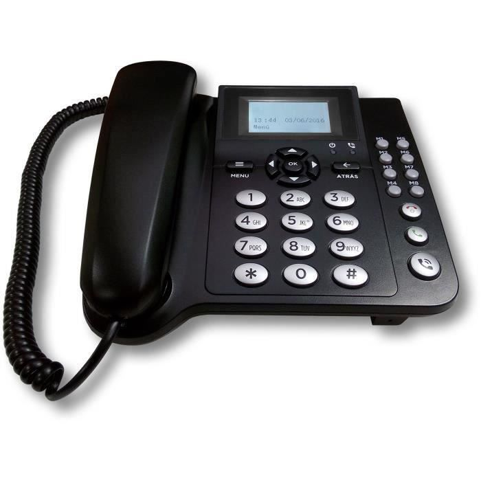 CoComm F300 Téléphone Filaire 3G - Noir