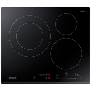 SAMSUNG NZ63K5727BK/EF - Table de cuisson ? induction - 3 zones - 7200W - L60 x P52cm - Rev?tement verre - Noir