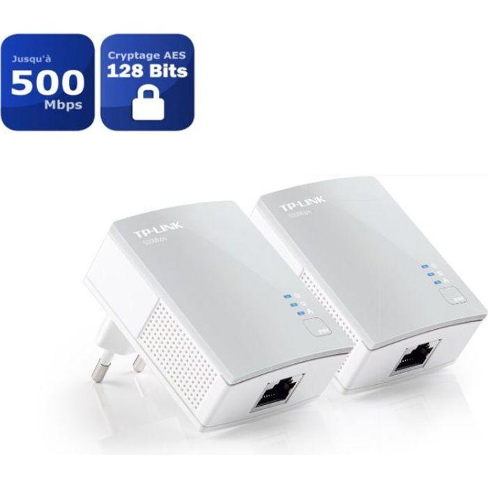 TP-Link TL-PA4010 KIT kit de 2 CPL 600 Mbps avec 1 Port Ethernet - Solution idéale pour profiter du service Multi-TV à la maison