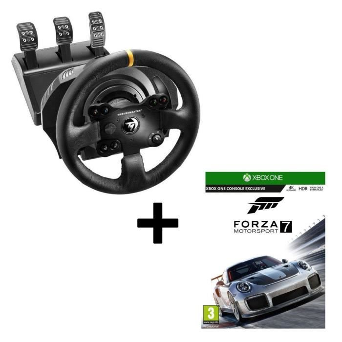 Pack ThrustMaster Volant TX Racing Wheel Leather Edition + Forza Motorsport 7 Jeu Xbox One