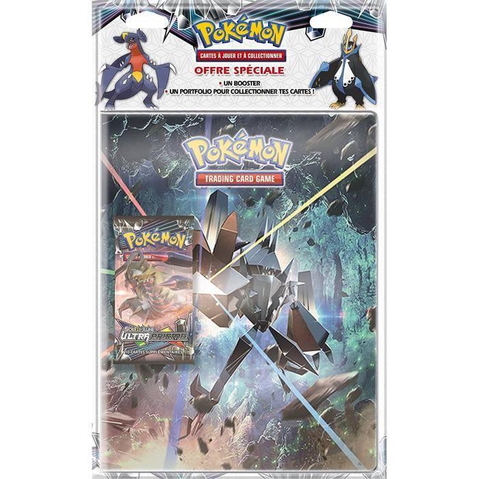 POKEMON Soleil et Lune 5 - Ultra Prisme - Pack Cahier Range-Cartes + Booster Pokémon SL05