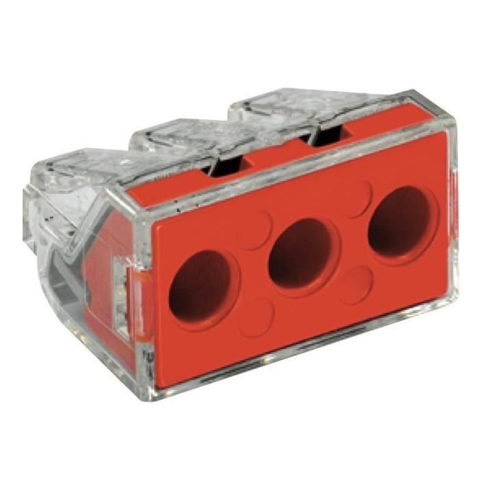 WAGO Blister de 10 bornes type 773 3 entrées 2,5 à 6 mm² transparentes