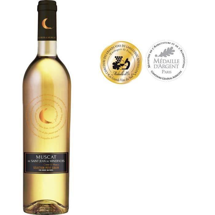 Coeur de Muscat Saint Jean Minervois - Vin blanc du Languedoc-Roussillon