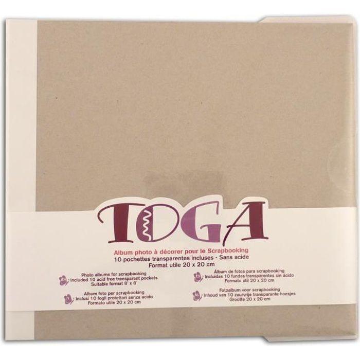 TOGA Album à décorer - 20x20 cm