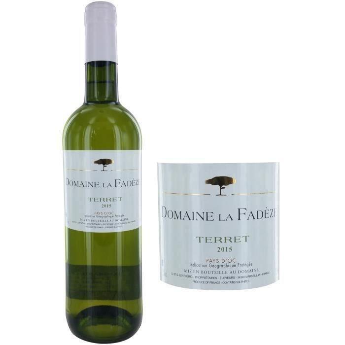 Domaine la Fadèze 2015 IGP Pays d'Oc - Vin blanc du Languedoc-Roussillon