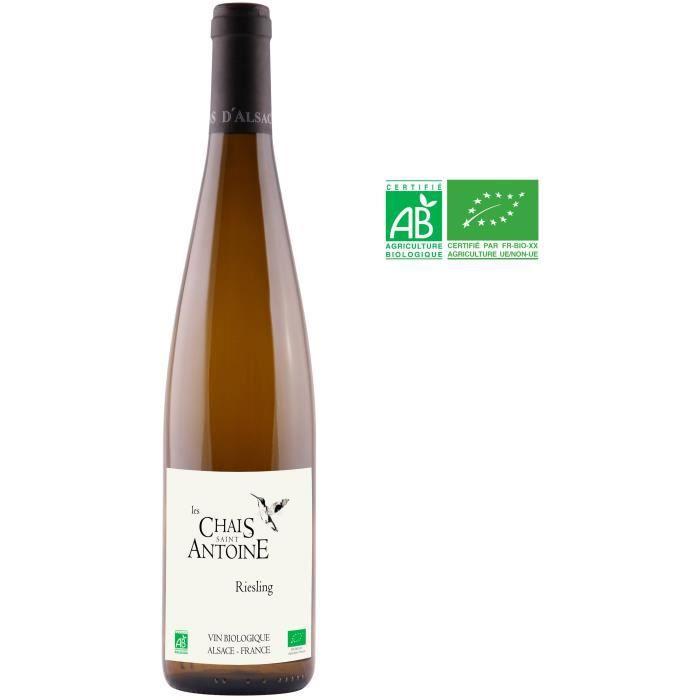 Les Chais Saint Antoine 2016 Riesling - Vin blanc d'Alsace - Bio