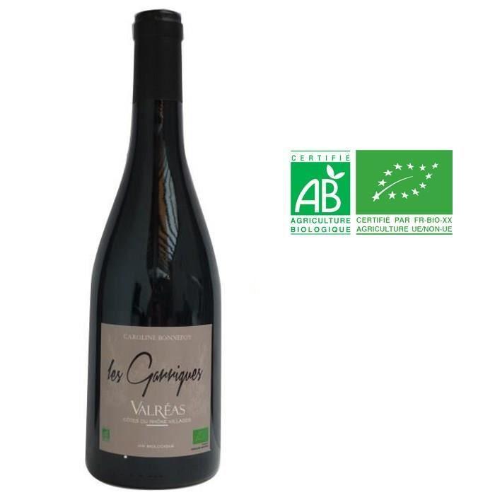 Les Garrigues 2016 Valréas - Vin rouge des Côtes du Rhône - Bio