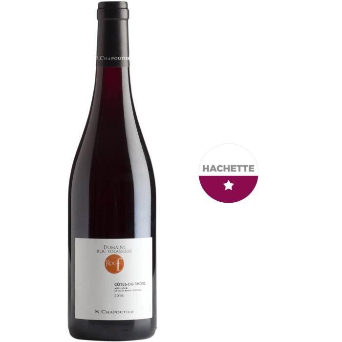 M. Chapoutier Domaine Roc Folassière 2017 Côtes-du-Rhône - Vin rouge de la Vallée du Rhône