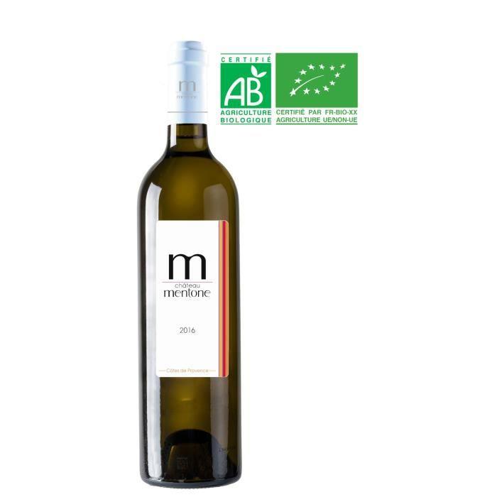 Château Mentone 2016 Côtes de Provence - Vin Blanc Bio de Provence