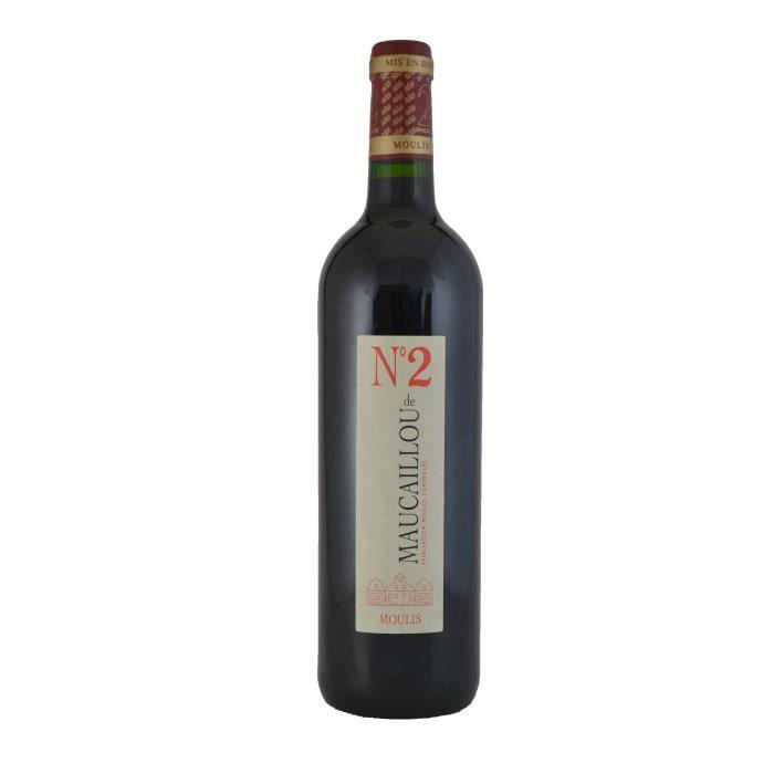 Numéro 2 de Maucaillou 2016 Moulis - Vin rouge de Bordeaux