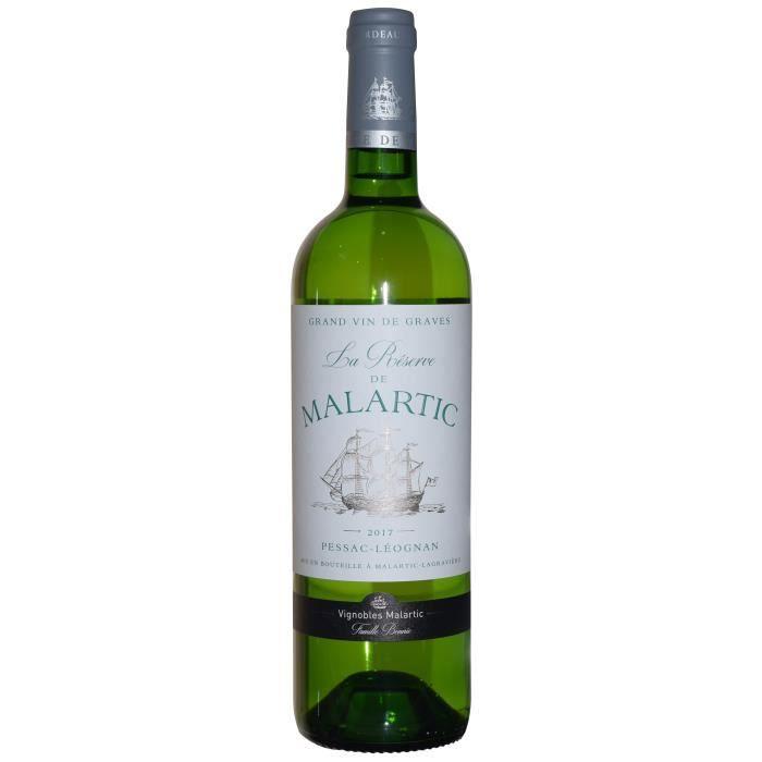 Réserve de Malartic Lagravière 2017 Léognan - Vin blanc de Bordeaux