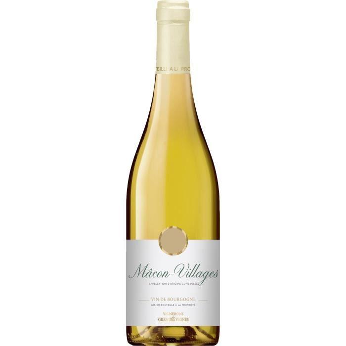 Vignerons des Grandes Vignes 2017 Mâcon-Villages - Vin blanc de Bourgogne