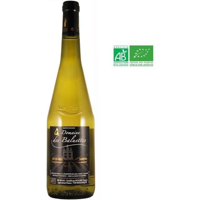 Domaine de Baluettes 2018 Muscadet de Sèvre et Maine sur Lie - Vin blanc du Val de Loire - Bio