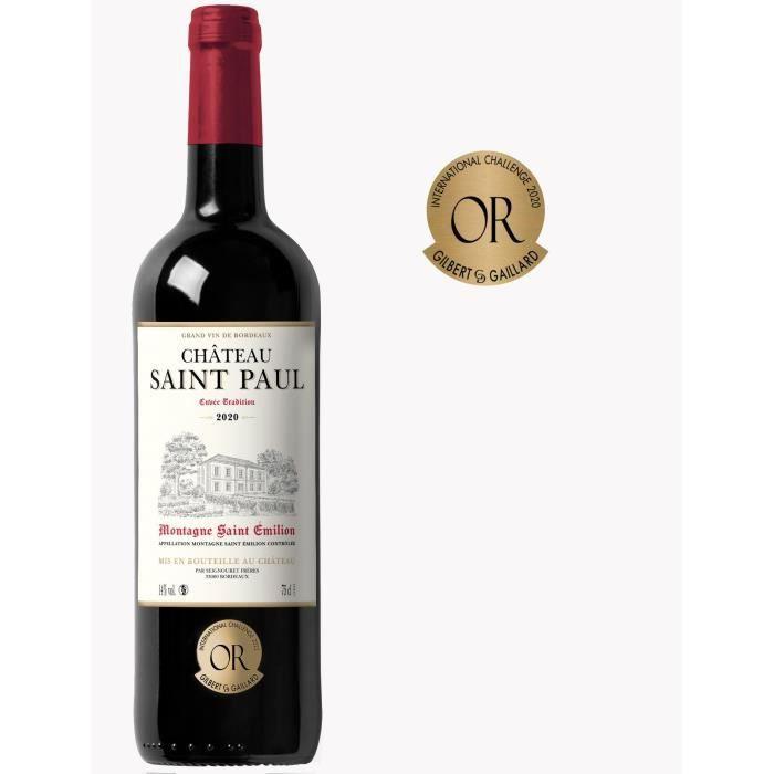 Château Saint Paul Cuvée Tradition 2018 Montagne Saint-Emilion - Vin rouge de Bordeaux