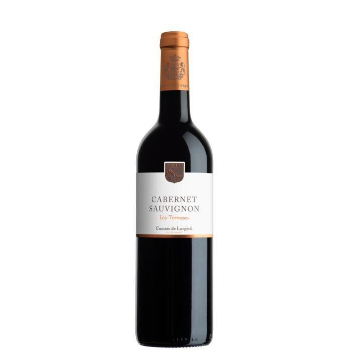 Les Terrasses 2017 IGP Pays d'Oc Cabernet Sauvignon - Vin rouge du Languedoc Roussillon