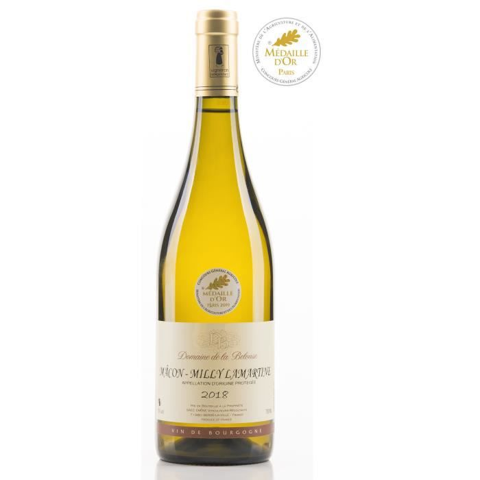 Domaine de la Belouse 2018 Mâcon Milly Lamartine - Vin blanc de Bourgogne