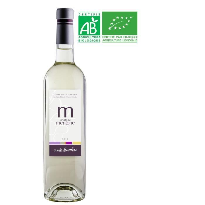Château Mentone Emotion 2018 Côtes de Provence - Vin Blanc Bio de Provence