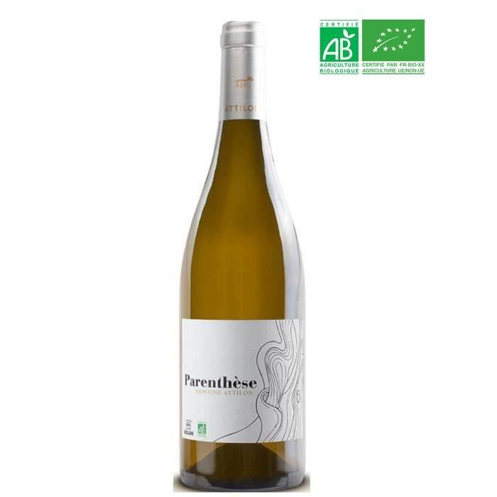Domaine Attilon Cuvée Parenthèse 2019 IGP Pays des Bouches du Rhône Terre de Camargue - Vin blanc de Provence - Bio