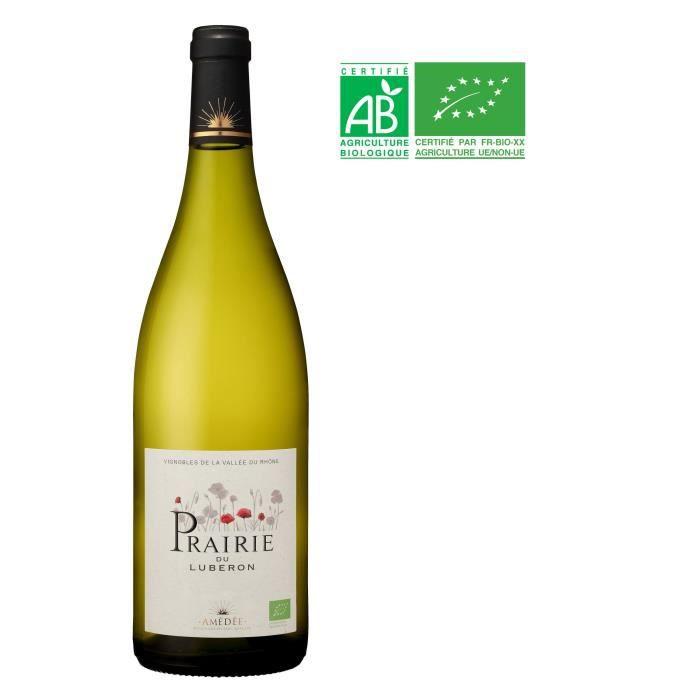 Prairie 2018 Lubéron - Vin blanc de la Vallée du Rhône Bio