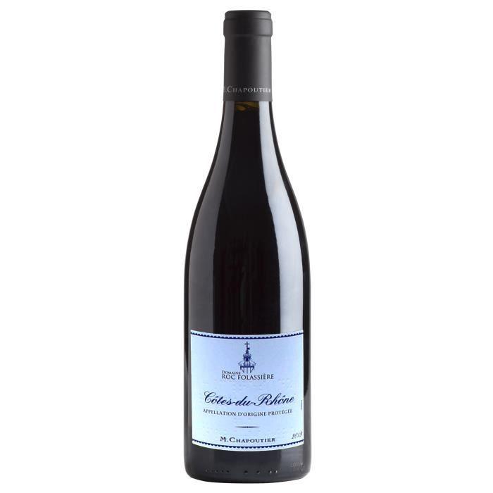 M. Chapoutier Domaine Roc Folassière 2019 Côtes-du-Rhône - Vin rouge de la Vallée du Rhône