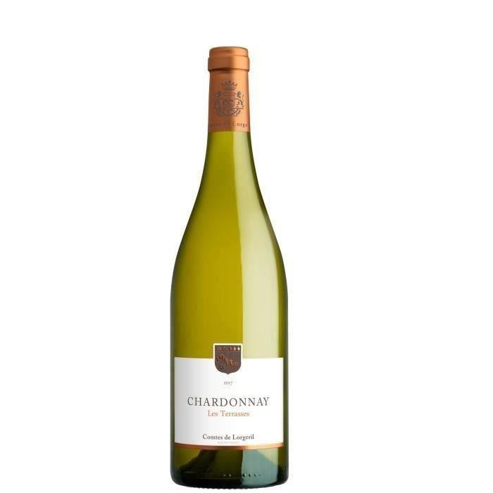 Les Terrasses 2019 IGP Pays d'Oc Chardonnays- Vin blanc du Languedoc Roussillon