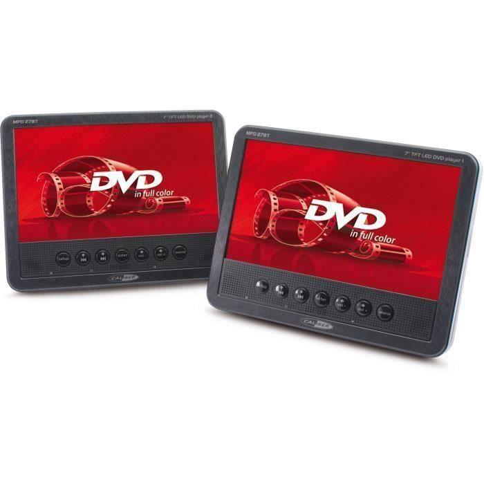 CALIBER MDP 278T Double lecteur DVD portables 7-