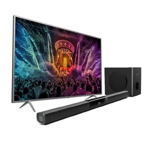 Pack PHILIPS TV LED 43PUS6401 - Ultra plat 4K 108cm (43\