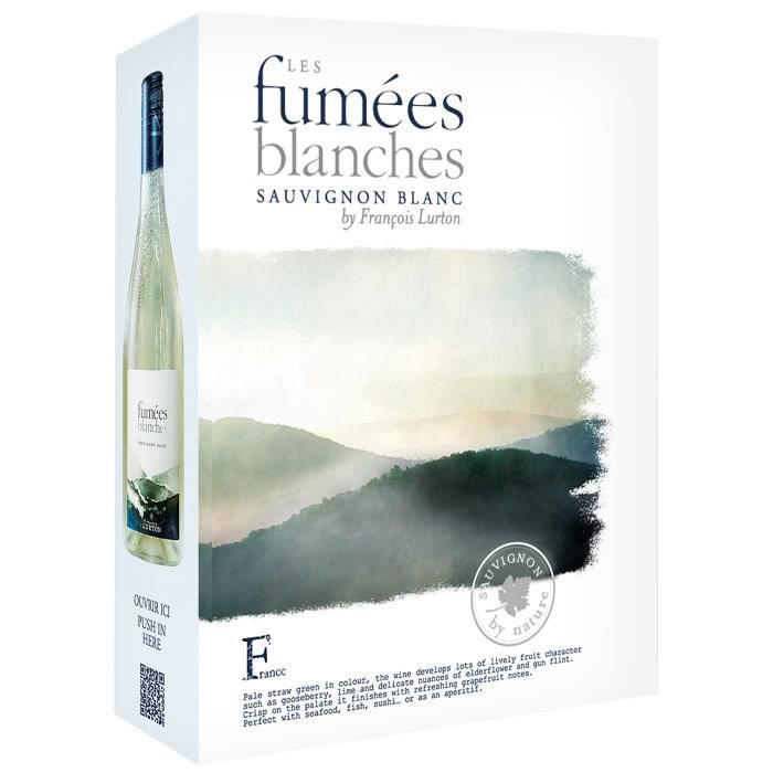 BIB François Lurton Les Fumées Blanches Sauvignon Vin de France - Vin blanc