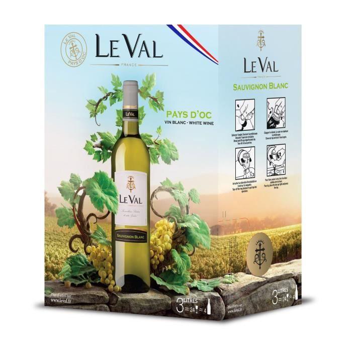 Le Val Sauvignon IGP Pays d'Oc - Vin rouge de Languedoc - Bib 3 L