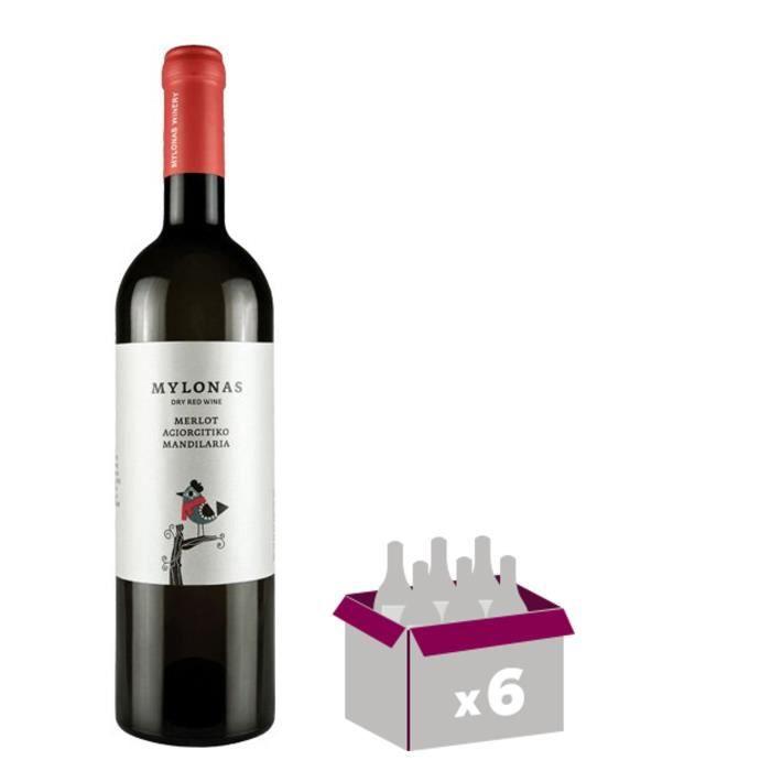 Mylonas Merlot Agiorgitiko Mandilaria - Vin rouge de Grèce