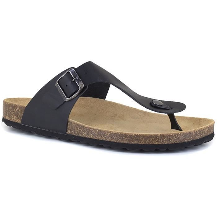 J.BRADFORD Chaussures Sandales JB-Marbella Noir Homme