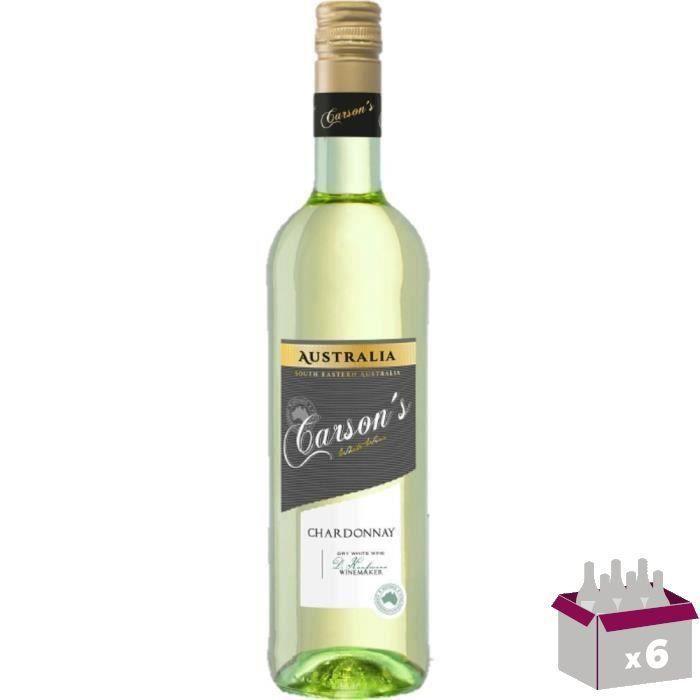 CARSON'S Chardonnay Vin d'Australie - Blanc - 75 cl x 6