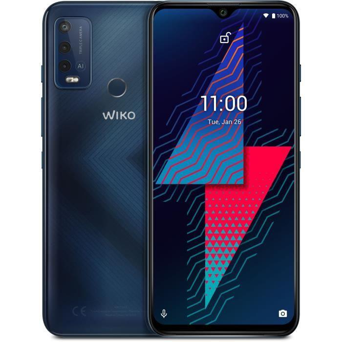 Wiko Power U30 Carbone Blue 64Go