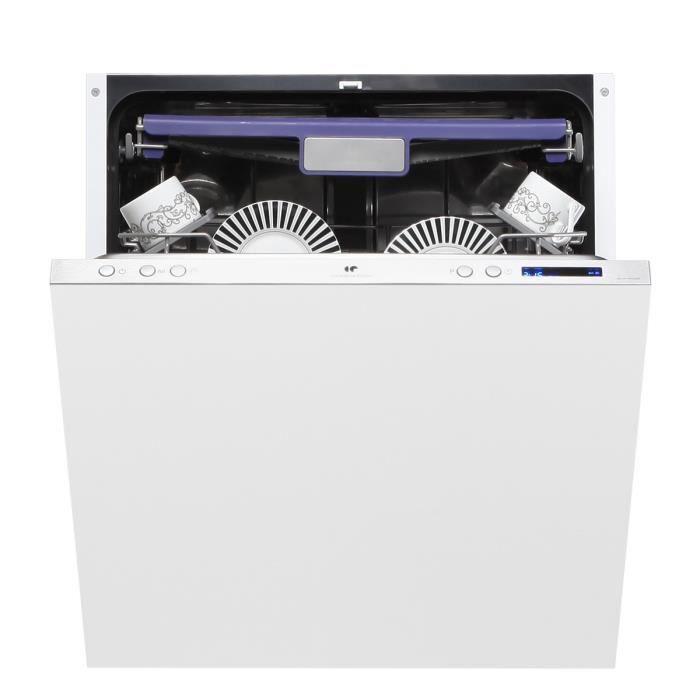 CONTINENTAL EDISON CELVF1442LED - Lave-vaisselle tout intégrable - 14 couverts - 42dB - A++ - Larg. 60cm