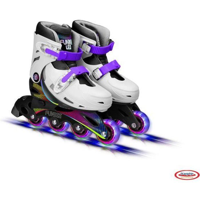 FUNBEE Rollers Ajustables avec roues LED - 30 au 33
