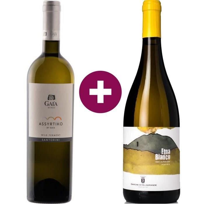 Duo des Iles - Assyrtiko by Gaia Wild Ferment 2019 Santorini & Barone di Villagrande Caricante 2019 Etna Bianco Superiore -2 x 75cl