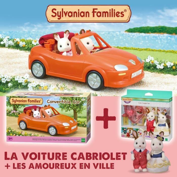 SYLVANIAN FAMILIES Voiture cabriolet 5227 + Les amoureux en ville 5362 - Les véhicules