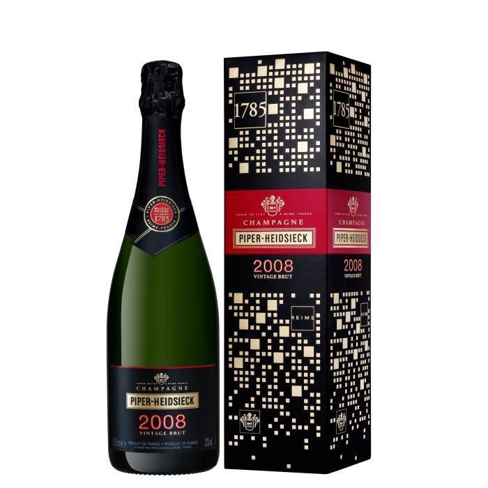 Champagne Piper Heidsieck Signature Millésimé 2008 avec étui - 75 cl