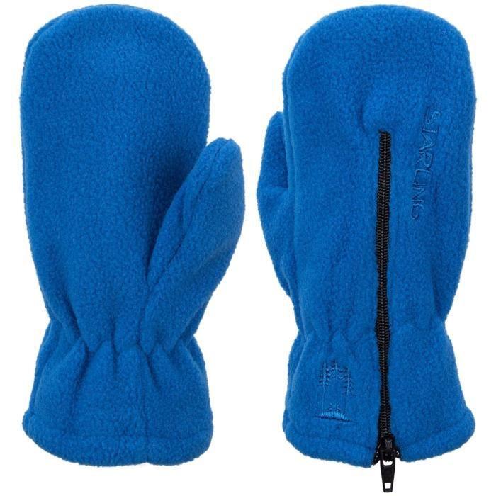 STARLING Moufles Polaire Zip Bébé - Bébé - Bleu