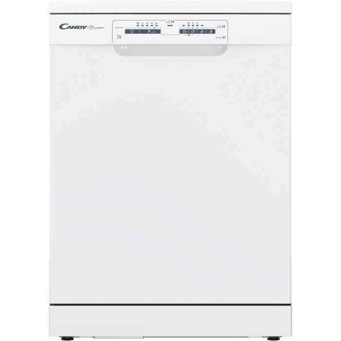 Lave Vaisselle CANDY HCF3C7LFW - Posable - 60 cm Largeur - 13 couverts - A +++ - 47 db - Blanc
